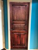 Deursticker vintage deur hout _