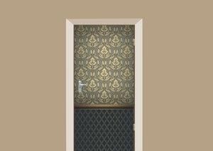B-keus: Deursticker barok vintage 208,5x100 cm
