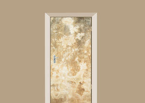 Deursticker abstract beige