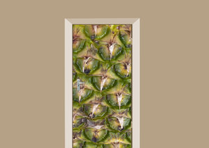 Deursticker abstract ananas