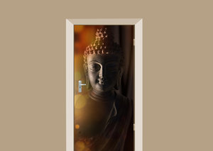 Deursticker Boeddha mysterieus