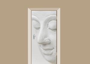 Deursticker Boeddha wit
