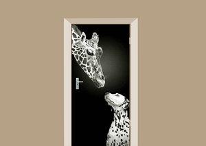 Deursticker giraffe en dalmatiër