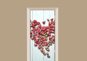 Deursticker rozen hart