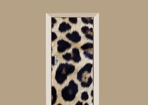 Deursticker luipaardprint