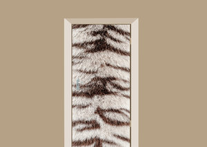 Deursticker Bengaalse tijgerprint