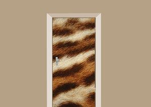 Deursticker tijger bont