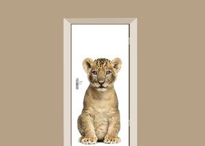 Deursticker leeuwen welpje