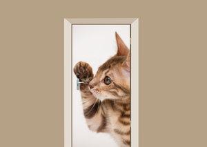 Deursticker kitten en profil