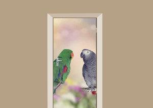 Deursticker papegaaien vriendjes
