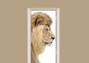 Deursticker leeuwenkop en profil