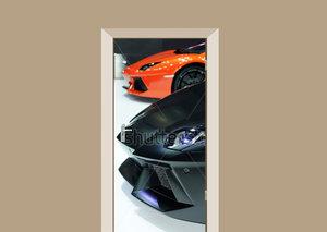 Deursticker auto Lamborghini's