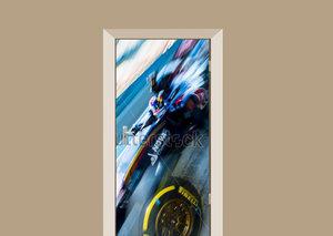 Deursticker Max Verstappen F1 car