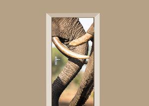 Deursticker olifanten slurven