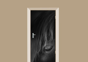 Deursticker paard dark