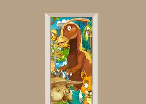 Deursticker dinosaurussen