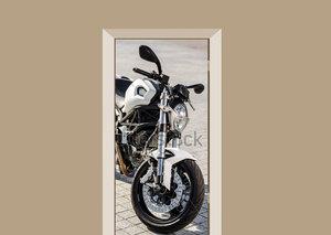 Deursticker motor witte Ducati