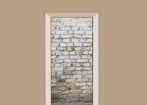 Deursticker witte muur