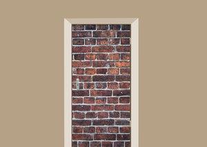 Deursticker bakstenen muur