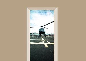 Deursticker helikopter Manhattan