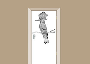 Deursticker bohemian vogel