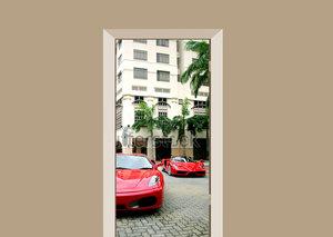 Deursticker auto Ferrari's Singapore