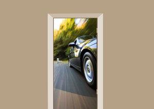 Deursticker auto fast car