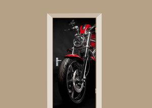 Deursticker motor rood