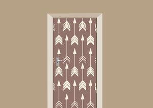 Deursticker bohemian pijlen bruin