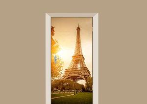 Deursticker Eiffeltoren zonsondergang
