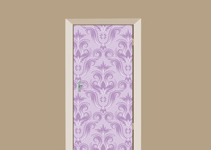 Deursticker barok lila paars