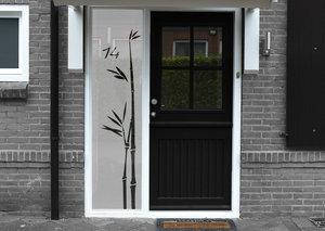 Voordeursticker bamboetak met huisnummer 38.6