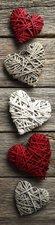 SALE: Poster/sticker hartjes op houten schuur 45x200cm (BxL)