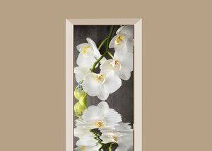 SALE: Deursticker klassieke orchidee 85x150cm (BxL)