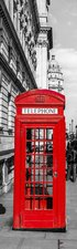 SALE: Poster/sticker telefooncel Londen 40x205cm (BxL)