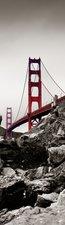 SALE: Muursticker/deursticker Golden gate bridge  55x190cm (BxL)