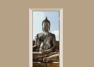Deursticker Boeddha oud