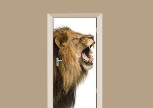 Deursticker brullende leeuw