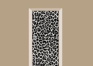 Deursticker panterprint zwart wit