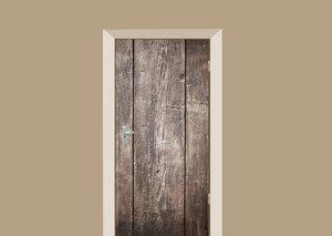 Deursticker brede houten planken
