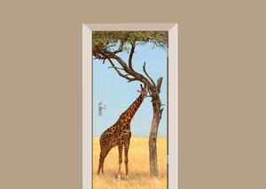 Deursticker giraffe
