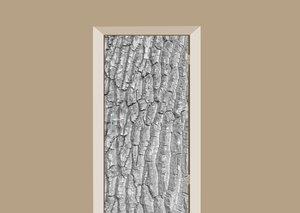 Deursticker boomschors grijs