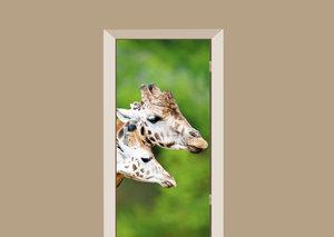 Deursticker giraffen