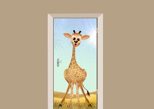 Deursticker giraf in de zon