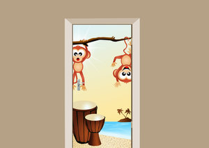 Deursticker apenstreken