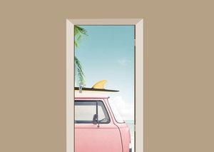 Deursticker auto tropisch
