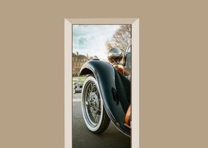 Deursticker auto zwart oldtimer