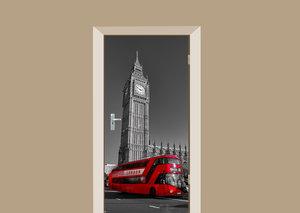 Deursticker bus Londen