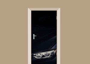 Deursticker auto zwart