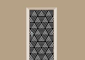Deursticker eindeloos patroon driehoek